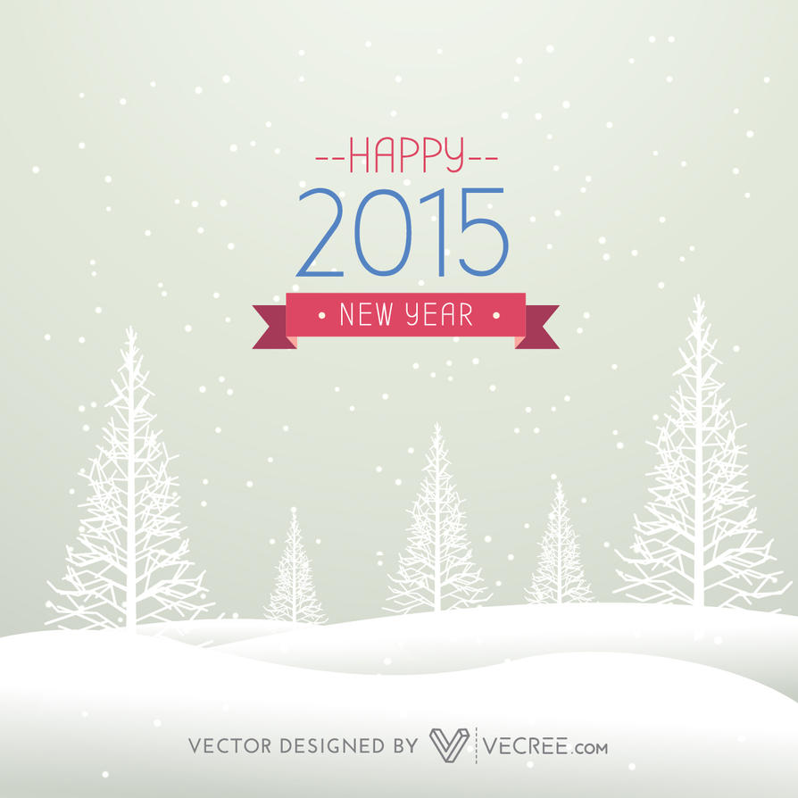 2015 Happy New Year Design Free Vector by vecree