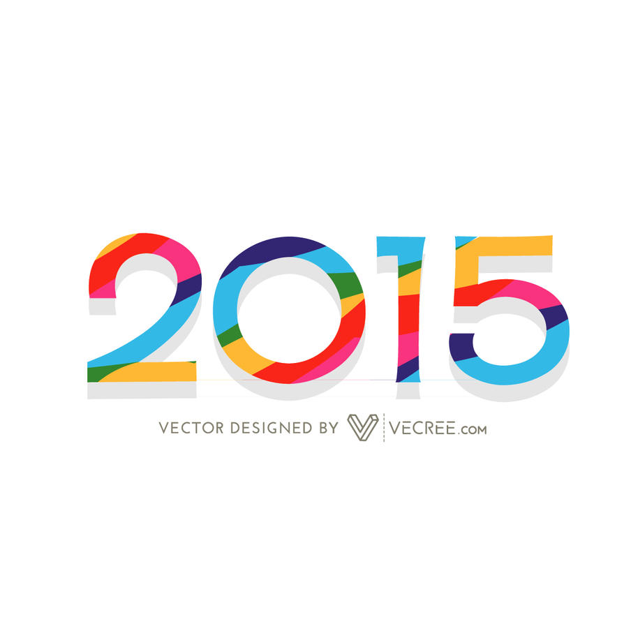 2015 With Colorful Line Stripes Free Vector by vecree