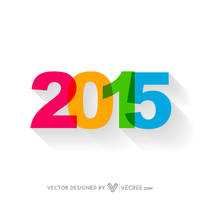 Colorful Simple Happy New Year Design Free Vector by vecree