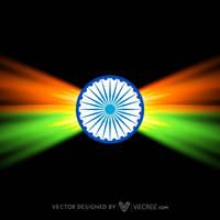 Creative Dark Indian Flag Design Free Vector by vecree