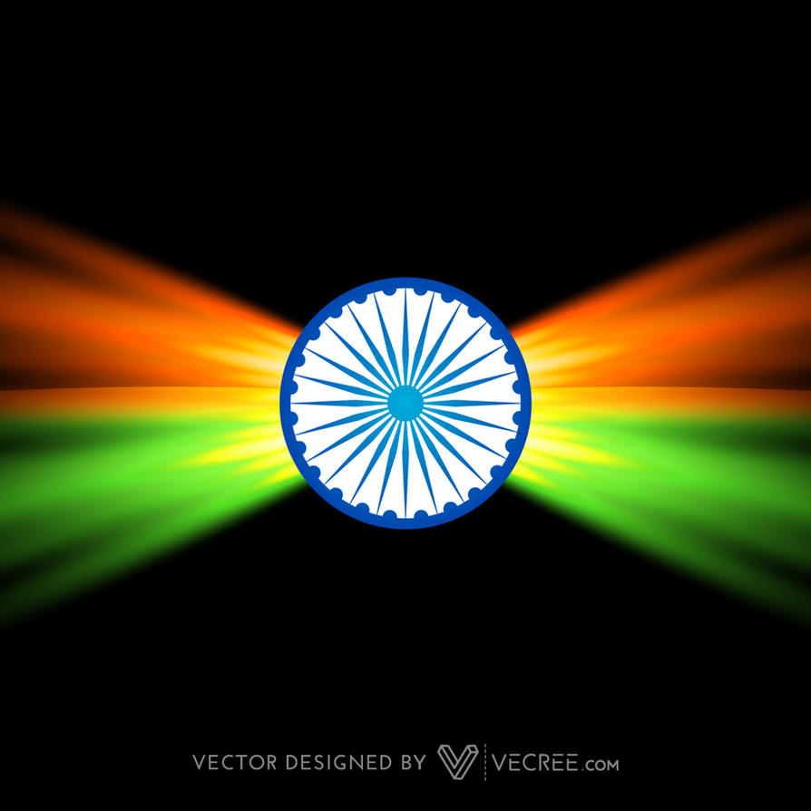 Creative Dark Indian Flag Design Free Vector by vecree on