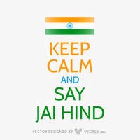 Indian Flag With A Message Free Vector by vecree