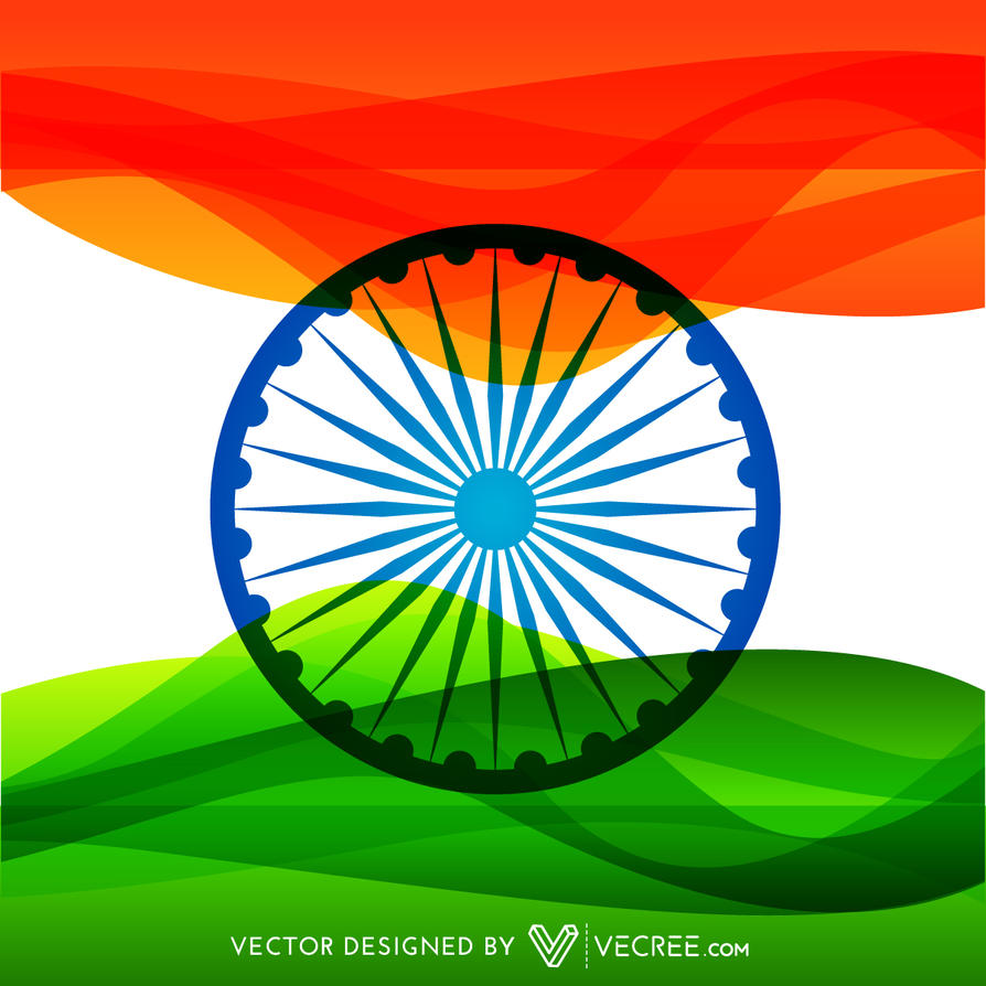 Colorful Indian Flag Design Free Vector By Vecree