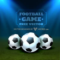 Football Placed On Ground Free Vector by vecree