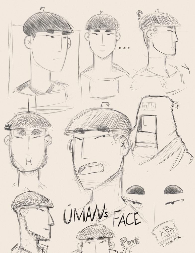 Uman's Face by BeDaTosster