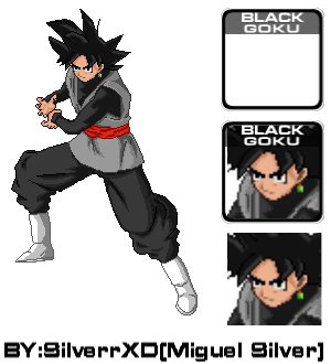 Roster ssf2 Black goku by SilverrXD on DeviantArt
