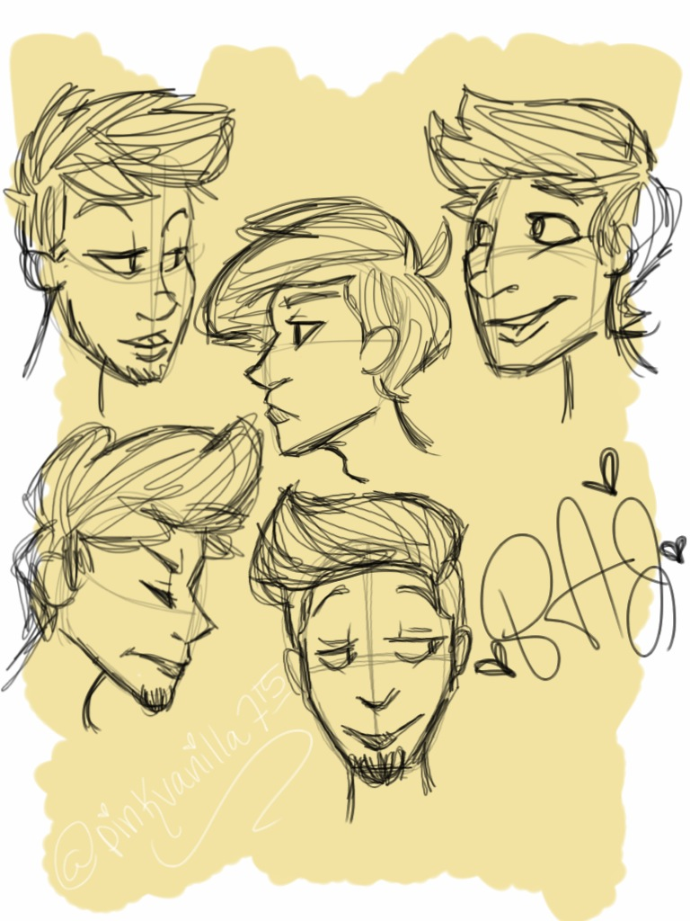 Sketches of boys by pinkvanilla715