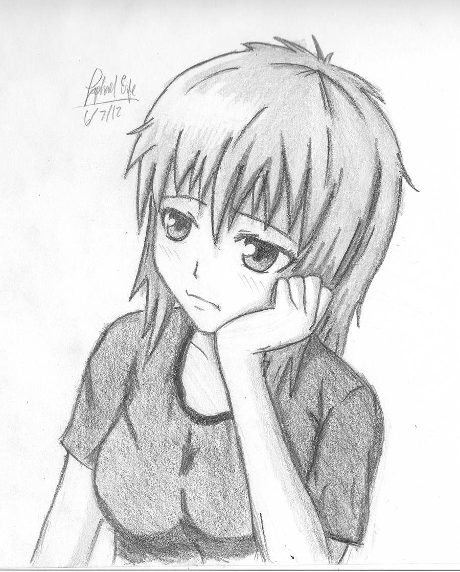Uncategorized What To Draw For A Girl bored girl sigh what were you saying by rapperfree on deviantart rapperfree