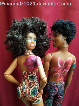 Tropical Tatted Dolls