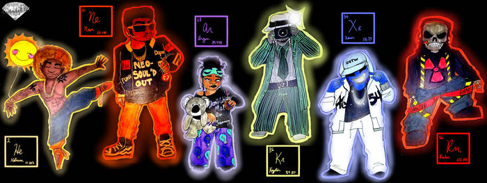 Noble Gases (Personified)