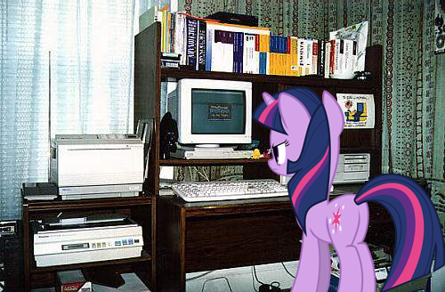 Twilight Is Not Pleased With The Computer by 987computer
