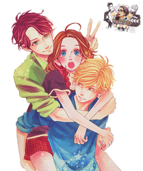 Shishio, Suzume and Daiki