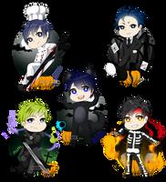 RHG : Chibi Halloween by DindaNda