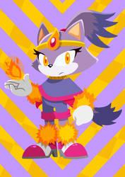 Blaze the Cat Redesign Art