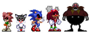 Sonic exe and  his victims