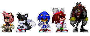 Sonic exe and his victims (Modern version)