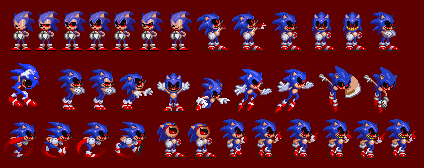 Sonic.exe Sprites by WarchieUnited
