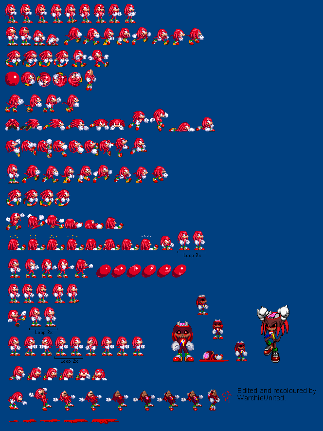 Knuckles Version 3 (Sonic exe) by WarchieUnited on DeviantArt