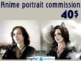 Anime portrait commission info