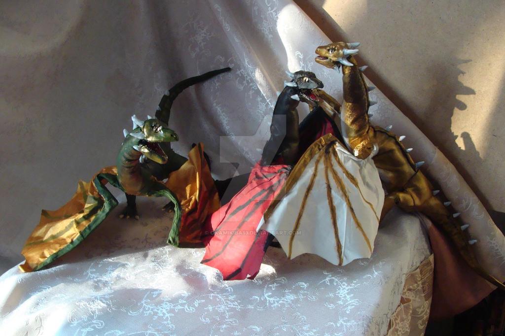 Dayenerys's Dragons by OkamiKiba13