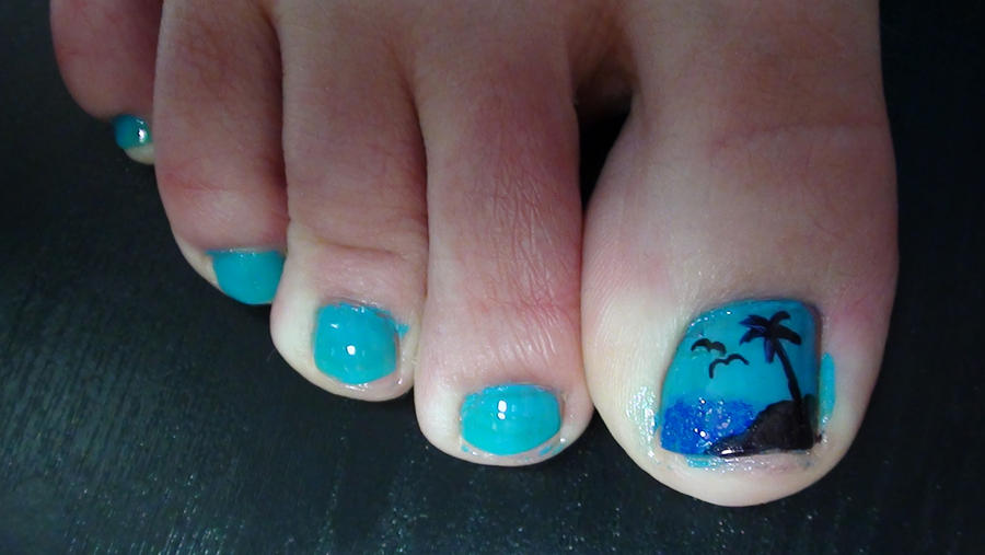 Palm Tree Toe Nails by EveryonesLawSchool on DeviantArt