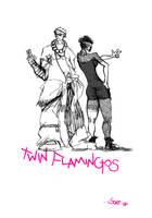 twinflamingos by rouphKut