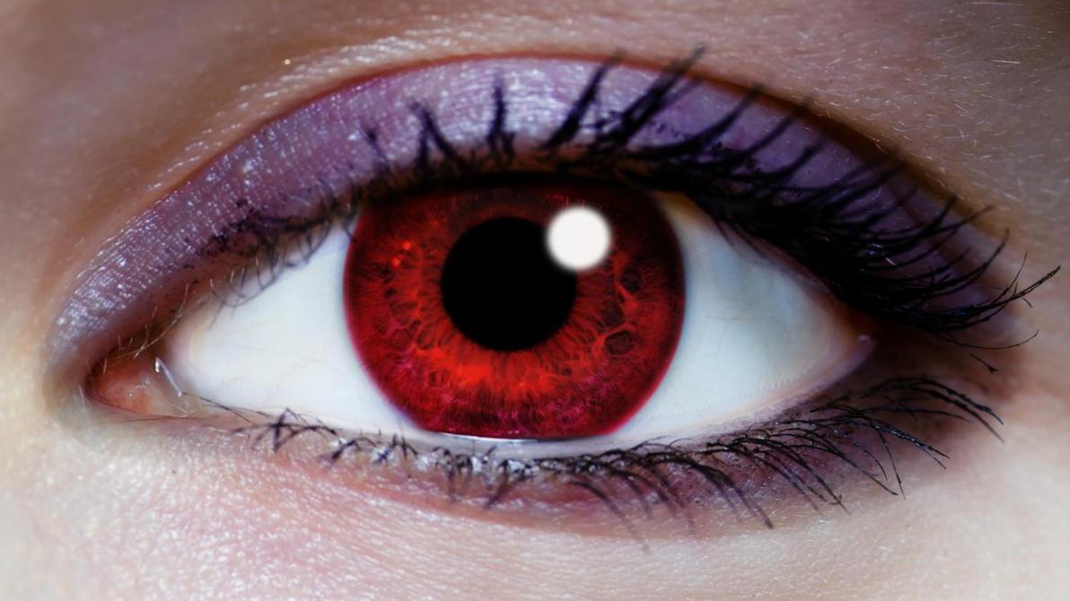Глаза красные как на