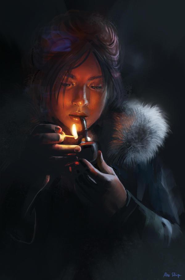 A midnight smoke