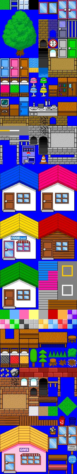 Town And House Tileset On Rpg Maker By Cuddlesnam On