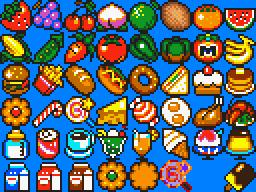 Kirby Food Sprites on RPG Maker XP by cuddlesnam
