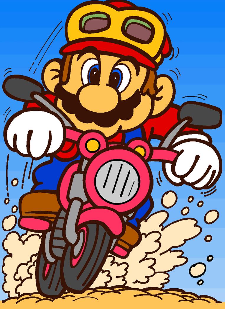 Motorcycle Mario by cuddlesnam