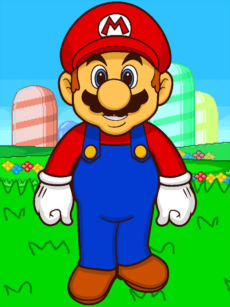 Super Mario in Grassland by cuddlesnam ...