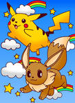 Pikachu and Evie