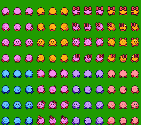 All Kirby Sprites Packs on RPG Maker 2003 by cuddlesnam on