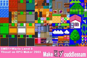 SMB1+Wario Land 3 Tileset on RPG Maker 2003