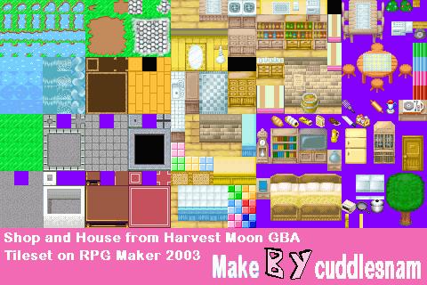 Shop and House Tileset on RPG Maker 2003 by cuddlesnam