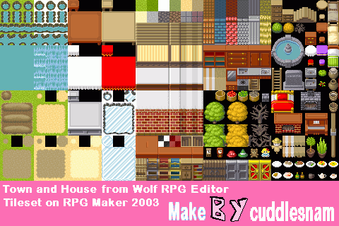 Wolf RPG Editor Tileset on RPG Maker 2003 by cuddlesnam on