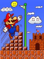 Super Mario Bros (Coloring Book 2) by cuddlesnam