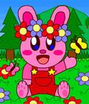 Flower Crown Bunny Kirby (Remake)
