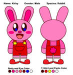 Animal Crossing Official Reference #Kirby Bunny #1 by cuddlesnam