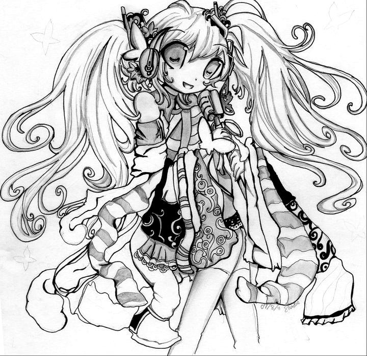 Hatsune miku fanart by ShyGirl0-0