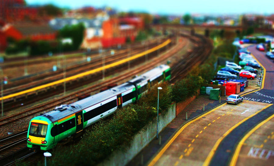 Tilt Shift Train by BnBattaglia