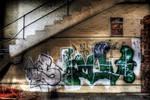 Factory graffiti HDR