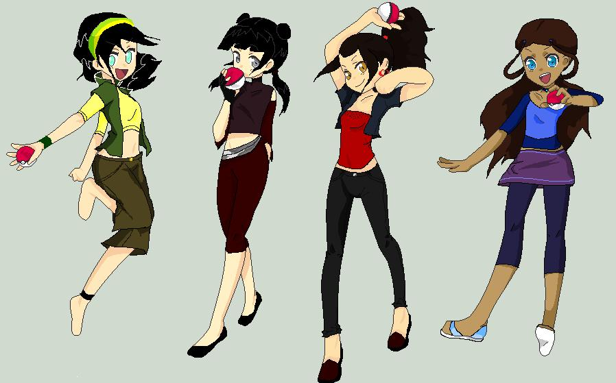 Avatar Pokemon Girls by BlackDiamond13