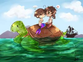 Turtle Ride! by BlackDiamond13