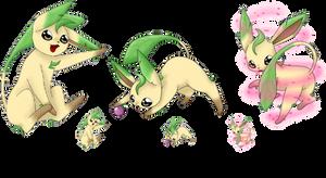 Squiby Leafeon by Mondlichtkatze