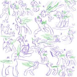 Pony Study 8  by Mondlichtkatze