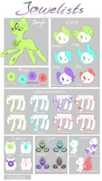 !!Outdated!!-Jewelists- Species guide by Mondlichtkatze