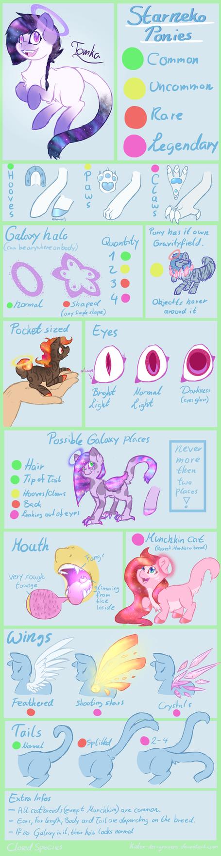 StarNeco Ponies -Species guide- by katze-des-grauens