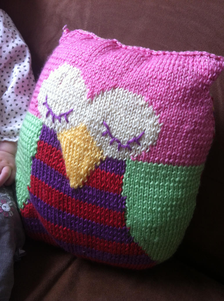 Knitted Owl Cushion by Kotiart on DeviantArt